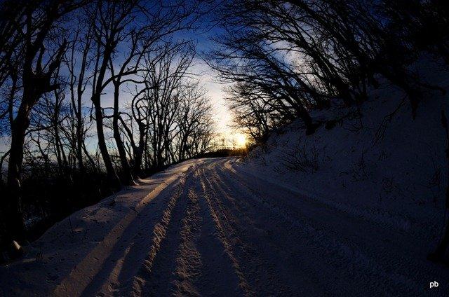 Снежная дорога Бештау