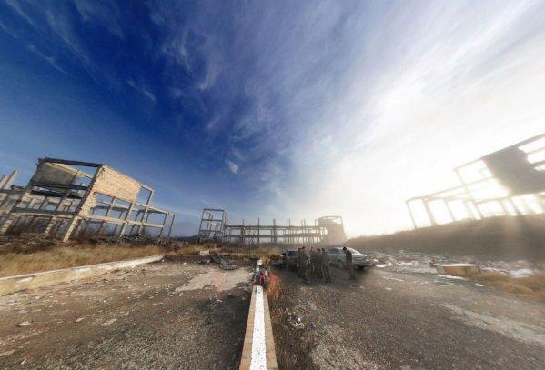 Панорама развалины санаториев на Бештау
