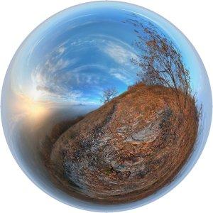 Осень - сферическая панорама