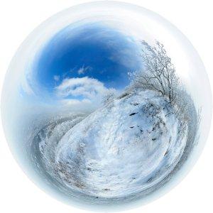 Зима - сферическая панорама