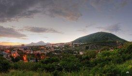 Панорама вечернего Пятигорска