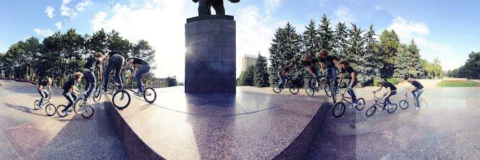 BMX возле памятника Ленину