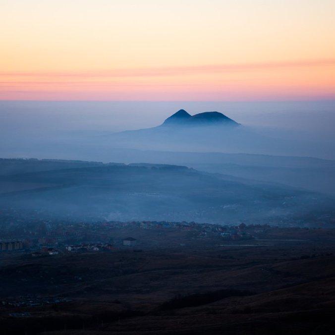 Гора Верблюд, вид с Бештау