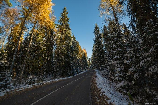 Дорога к Иверскому заповеднику