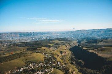 Вид на Бештау из Кисловодска