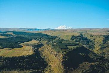Эльбрус, вид из кисловодского неба