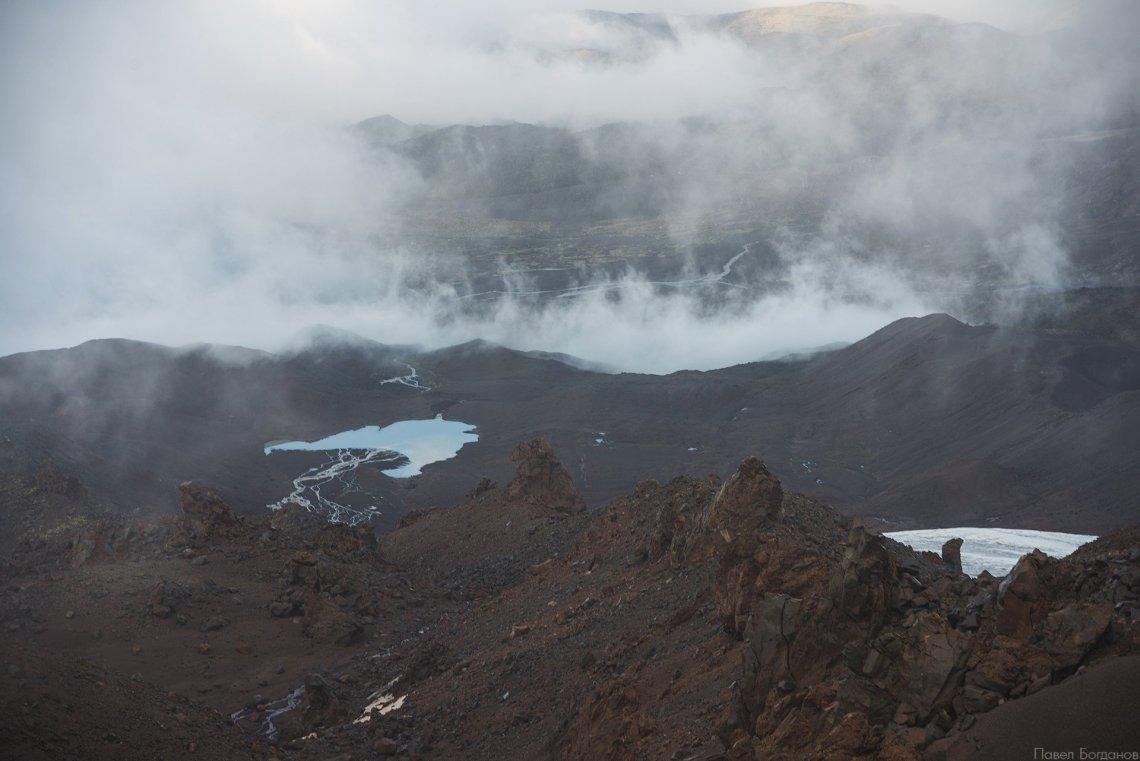 Ледниковое озеро на северной стороне Эльбруса