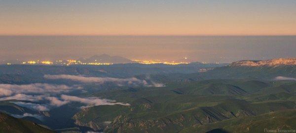 Гора Бештау и Машук, вид с Эльбруса