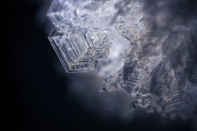 Льдинки крупным планом