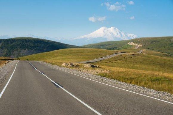 Фото - дорога к Эльбрусу