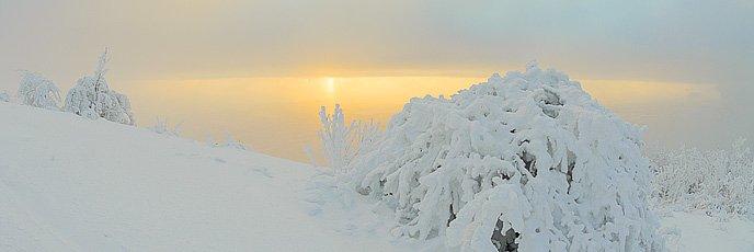 Зимние фотографии вершины Машука
