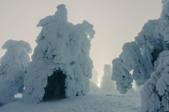 Зимний пейзаж Пятигорска на Машуке