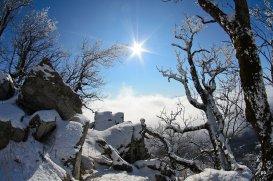 Вид на перевале Два брата, Бештау