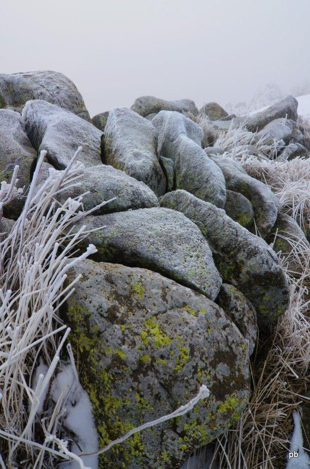 Камни в инее
