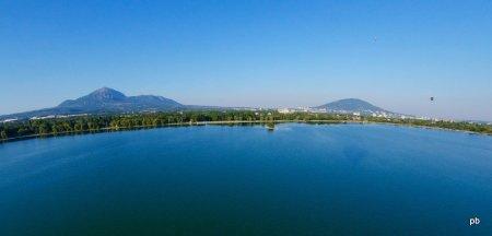 Новопятигорское озеро, вид с воздушного шара