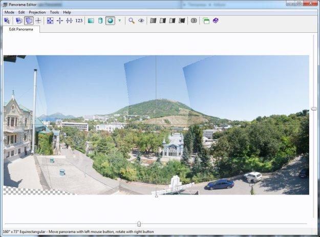 Обрезка панорамы в редакторе
