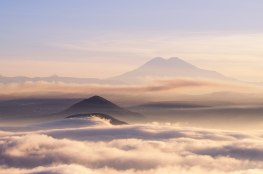 Вид из Пятигорска на Эльбрус - купить фото