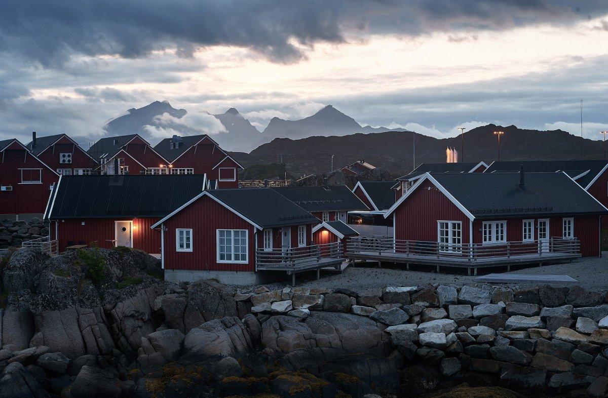 Норвежские домики Рорбу
