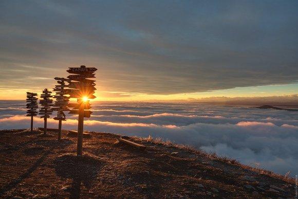 Рассвет на вершине Машука