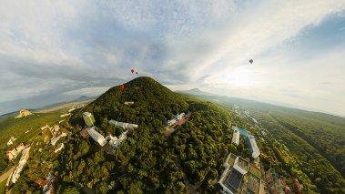 Обои - Железноводск с воздушного шара