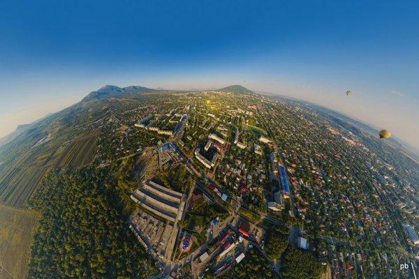 Панорама Пятигорска с воздушного шара