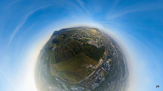 Панорамная фотография Пятигорска с высоты