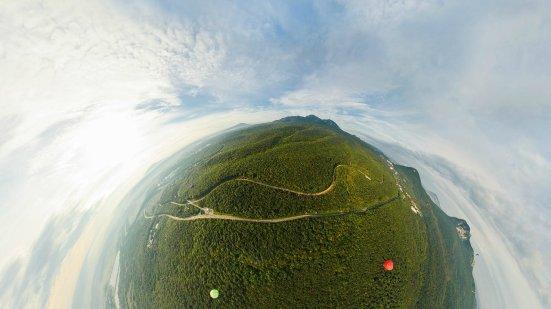 Бештау, вид из железноводского неба