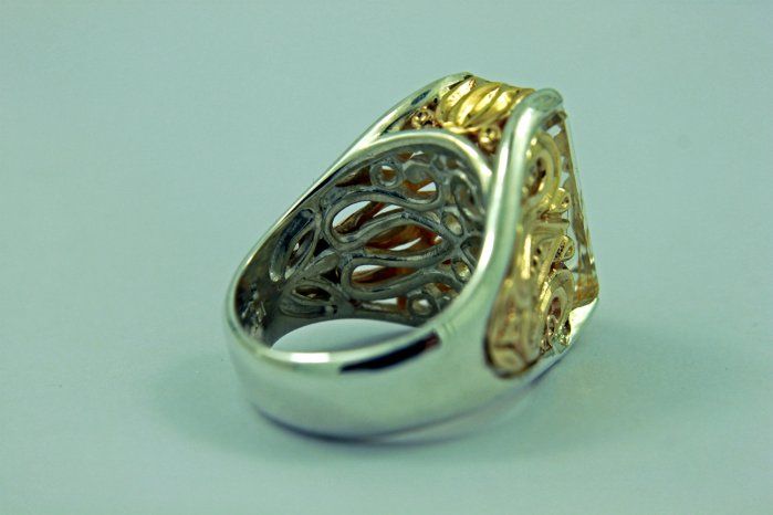 GOLDEN YELLOW - 14k Yellow Gold, Sterling Silver, and Rutilated Quartz3