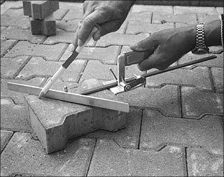 инструменты для тротуарной плитки, тротуарная плитка, лекало
