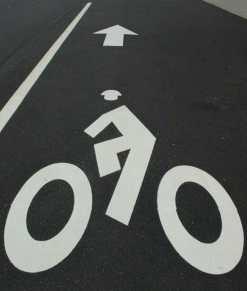 Bike Lane & Pedestrian
