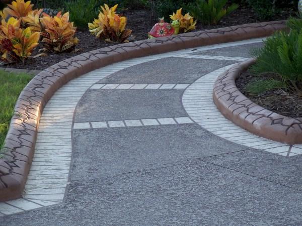 stamped concrete walkways design