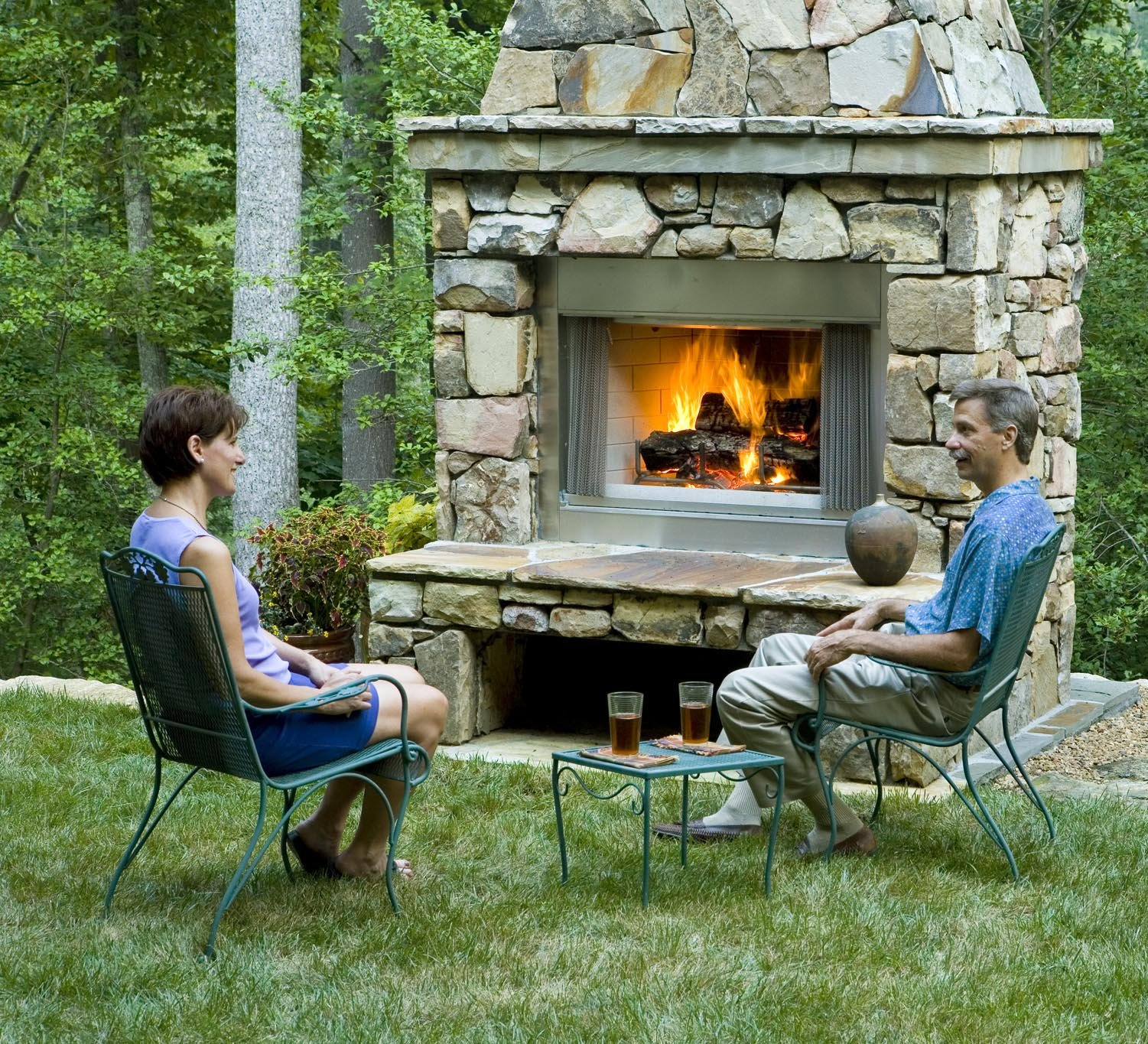 Outdoor Fireplace Design And Construction Northern VaDc