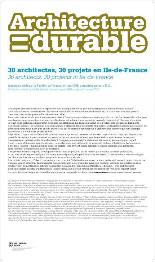 Architecture = Durable  19 X 30  Collections  E