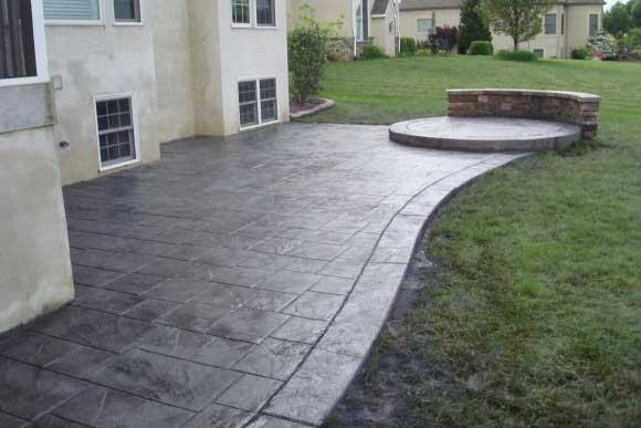 Pavimento Esterno Moderno : Moderno intonaco stampato giro pavimento per esterno moderno
