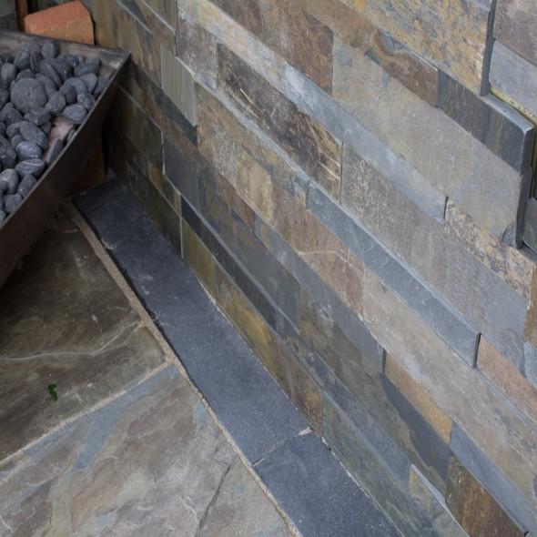 rustic slate cladding