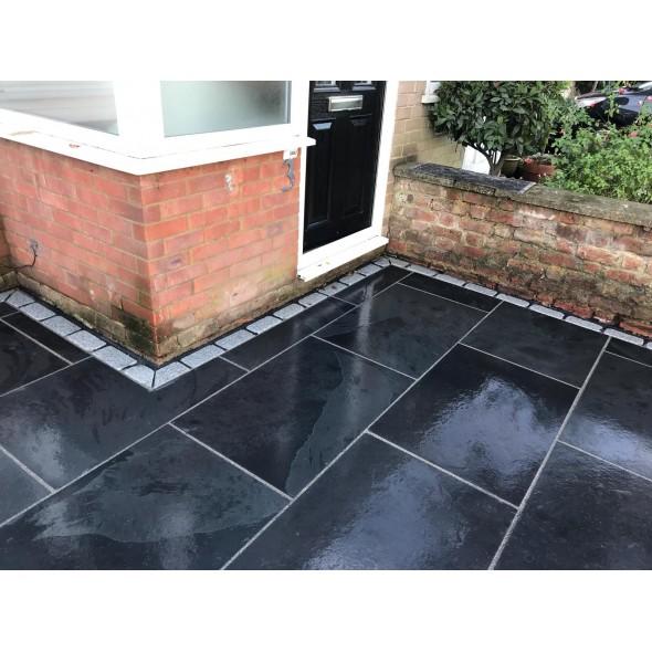 brazilian black slate calibrated sawn 600x900 paving stones direct