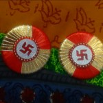 Soan with swastik (2pcs) red