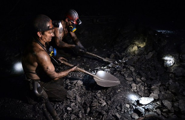 Ukrajinski rudari, Kalinovskaja-Vostočnaja. Foto: Kyivpost.com