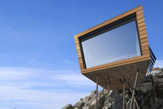 "Eko-utočište Refuge, Cimini Architettura, Švajcarska: Eco Temporary Refuge"" je 100% mobilna - pomiče se ako je zakačena za helikoper. Dizajnirana je kao pribežište za alpiniste i penjače"
