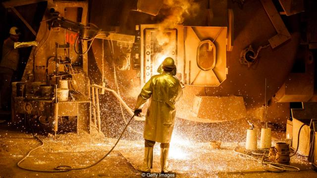 Proizvodnja čelika u topionici Salzgitter AG (Morris MacMatzen/Getty Images)