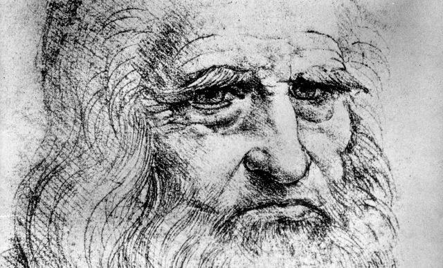 Leonardo - Autoportret (crtež)