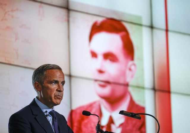 Guverner Banke Engleske, Mark Karni, objavljuje da će Tjuringov lik biti na novog britanskoj novčanici od 50 funti (The Independent)