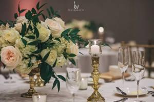 elegant wedding center pieces