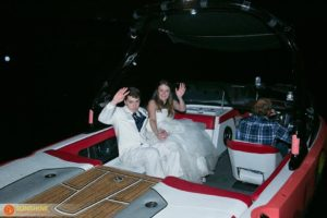 Lakeside Wedding Boat Exit