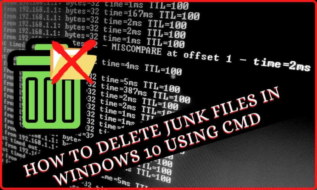 how to delete junk files in windows 10 using cmd
