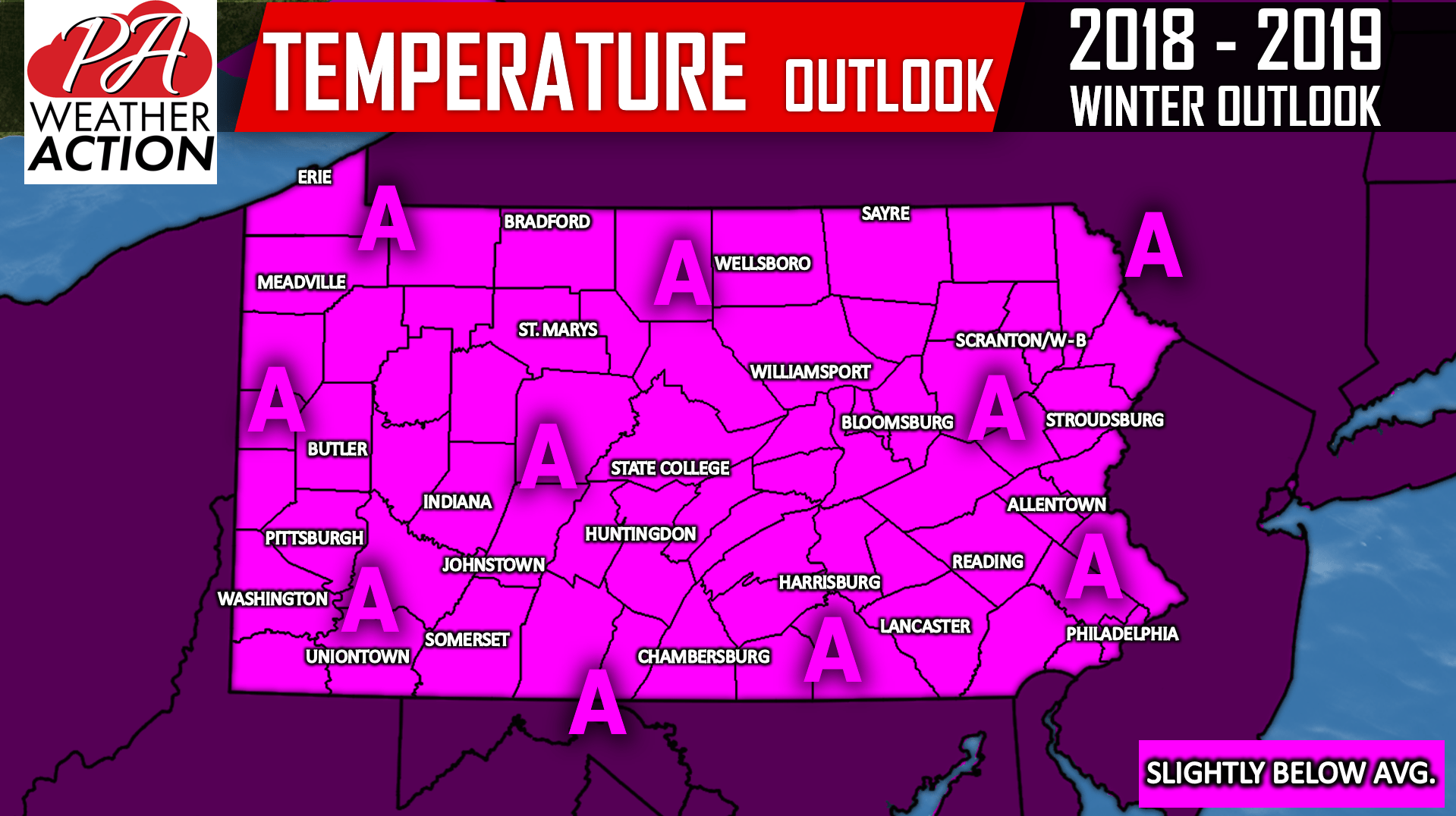 Official 2018-2019 Pennsylvania Winter Outlook – PA Weather Action