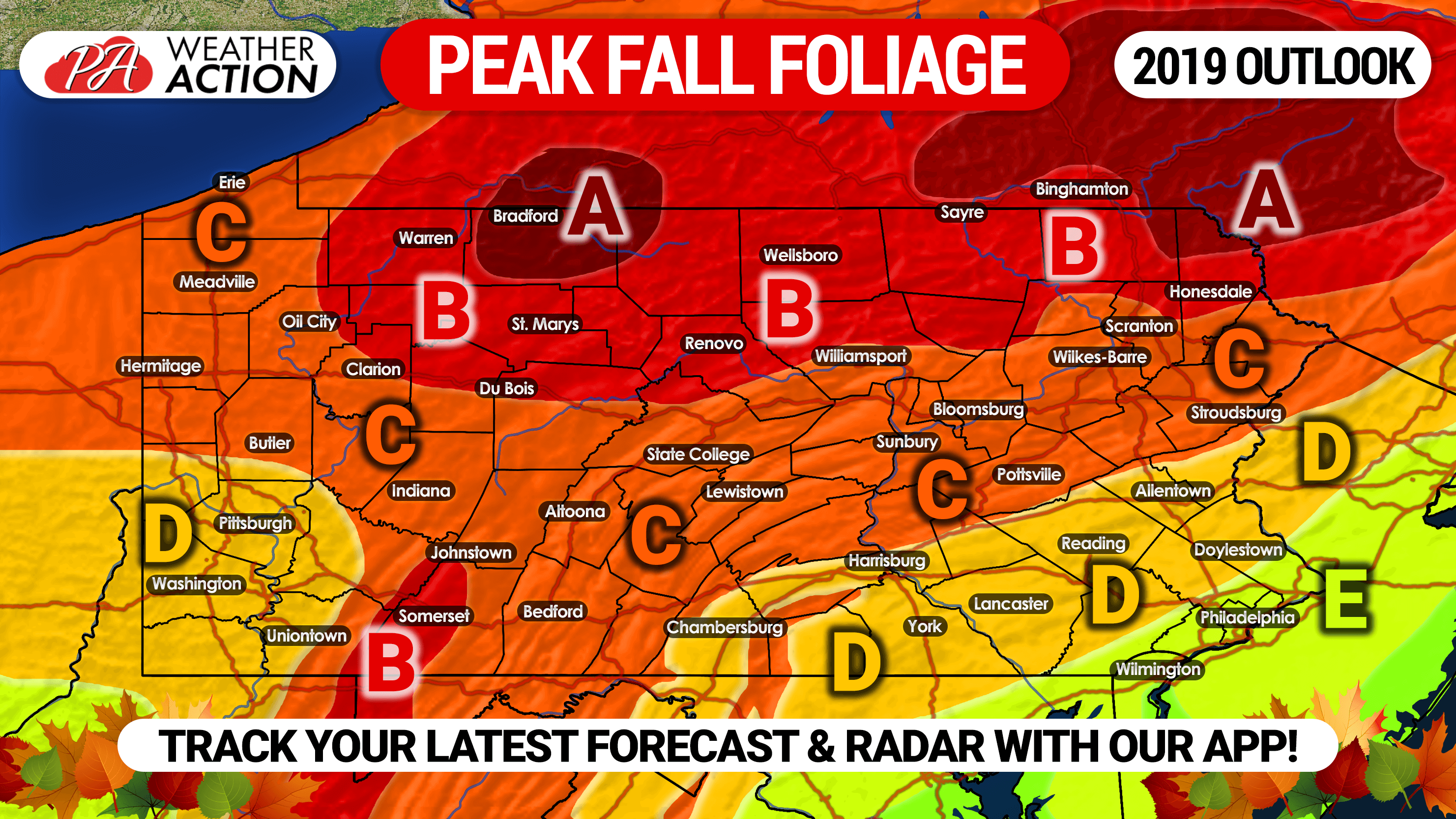 2019 Fall Foliage Outlook Expected Peak Times In Pennsylvania Pa Weather Action