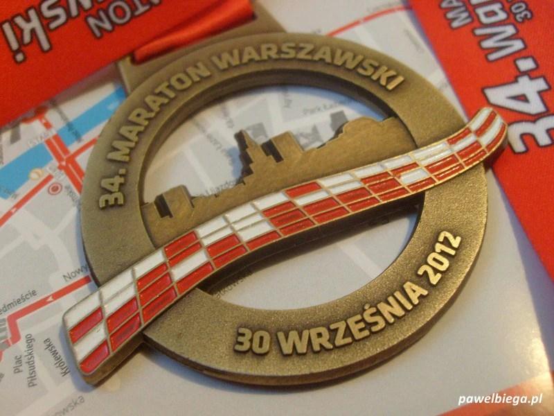 34 Maraton Warszawski - medal