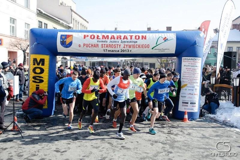 XIV Półmaraton dookoła Jeziora Żywieckiego - start