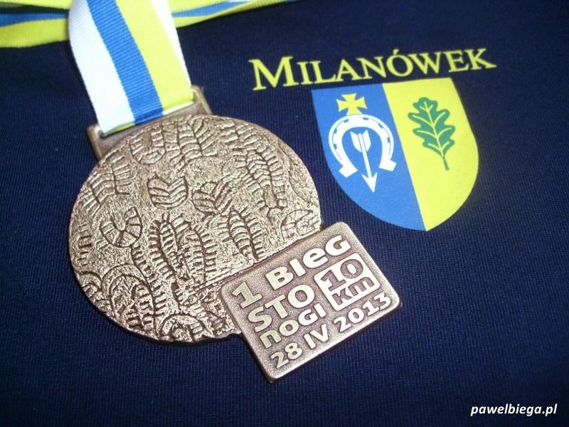 Bieg STO-nogi w Milanówku - medal
